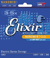 NANOWEB Комплект струн для электрогитары, Light, 10-46, Elixir